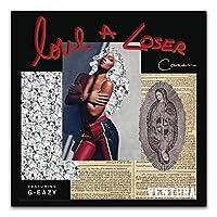 G-EAZYラップヒップホップスターシンガーミュージックアルバムカバーラッパーポスターとプリントアートポスターキャンバス絵画家の装飾キャンバス壁アート60x60cmフレームなし