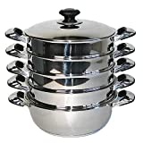 Mantowarka Organic steam cooker suitable for induction Stainless steel 24, 26, 28, 30 cm 24