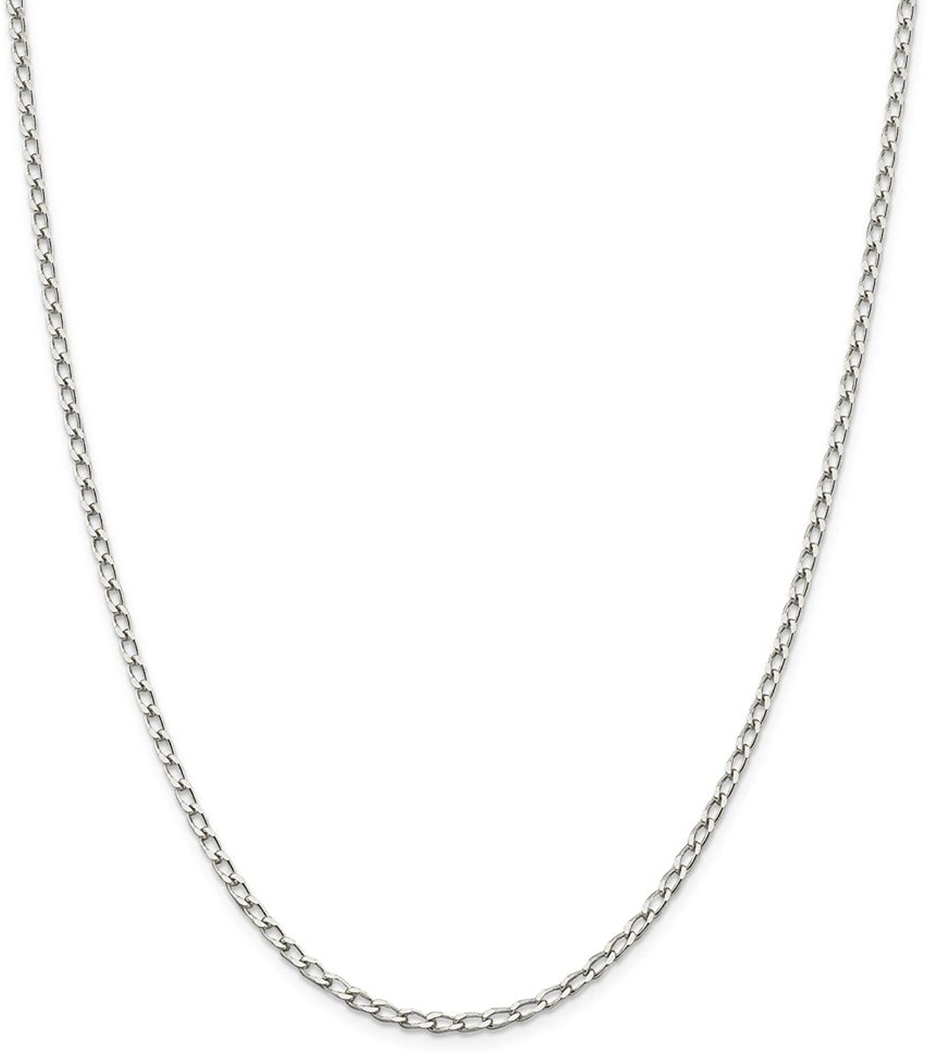 Beautiful Sterling silver 925 sterling Sterling Silver 2.8mm Open Link Chain