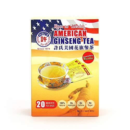 Hsu's Root to Health American Ginseng Tea, 20 Teabags #1036