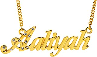 """Name Necklace""""Aaliyah"""" - 18K Yellow Gold Plated"""