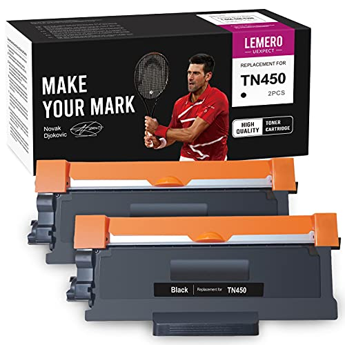 LemeroUexpect Compatible Toner Cartridge Replacement for Brother TN450 TN-450 TN420 TN-420 for Brother Intellifax-2840 HL-2270DW 2280DW 2240 2230 MFC-7860DW 7360N 7240 DCP-7065DN (Black,2P