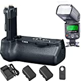 Canon BG-E21 Battery Grip for EOS 6D Mark II and Commander TTL Flash with LCD Display + 2 Batteries + Compact AC/DC Charger + Wireless Remote Control