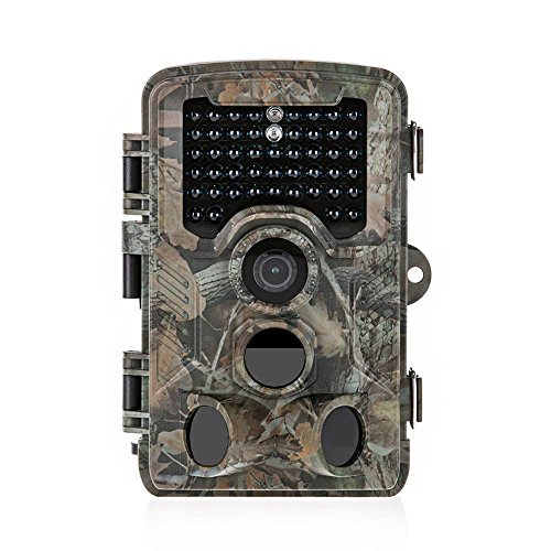 Distianert Trail Camera 16MP 1080P Wildlife Game Camera Low Glow lack Infrared with 0.6S Trigger...