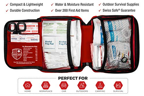 200-Piece Professional First Aid Kit for Home, Car or Work : Plus Emergency Medical Supplies for Camping, Hunting… 5