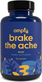 Amply Blends | Brake The Ache | Herbal Supplement | Post-Workout Relief Capsules | 120-Count
