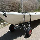 Moliies Carrello per Kayak Gonfiabile con Ruote per rimorchio Pieghevole Portatile in Allu...