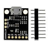 1 x Micro Digispark Board PWM su 3 pin (più possibile con Software PWM) 6 pin I / O (2 vengono utilizzati per USB solo se il programma comunica attivamente su USB, altrimenti è possibile utilizzare tutti e 6 anche se si sta programmando tramite USB) ...