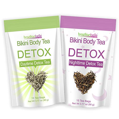 Brazilian Belle Bikini Body Detox & Cleanse Bundle Pack (30 Tea Bags) Boost Energy, Manage Weight, Fight Bloating & Reduce Stress