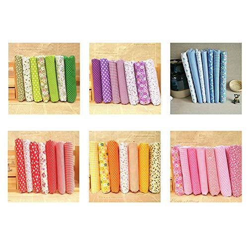 Stecto Couture Quilting Fabric Patchwork Vêtements Sewing Artisanat, Tissu de Patchwork de Motifs Différents pour Bricolage Couture Scrapbooking Quilting Dot Pattern