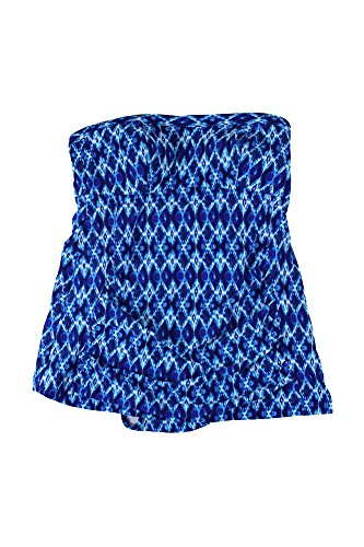 Jessica Simpson Women's Plus-Size Navajo Bandeau Swim Dress, Navy/Multi, 2X