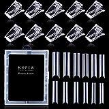 Kalolary Clear Gel Nagelform Nagel Dual System Formen 120 Stück U-Kurve Nagelform 11 Größen mit...