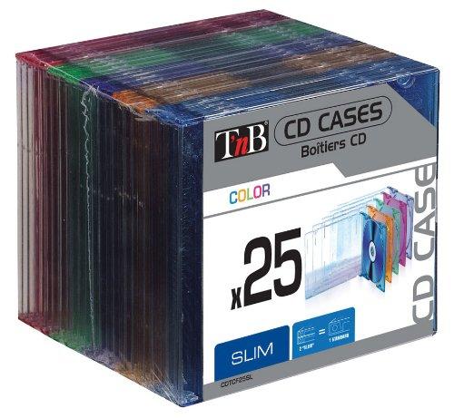 TNB Caixas CD Slim Coloridas 25un