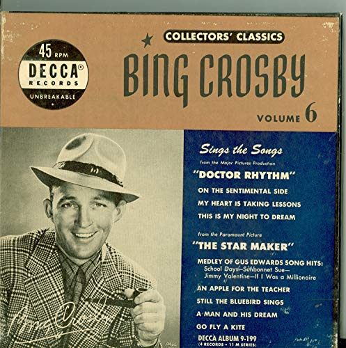 Collector's Classics Vol 6 - Original Box Set - 4 vinyl 45s, 8 Songs w/On the Sentimental Side / | My Heart Is Taking Lessons / This Is My Night To Dream plus 5 more - Bing Crosby (Decca Records 1950) Near-Mint (7 out of 10)