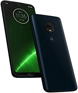 "Motorola Moto G7+ Plus (64GB, 4GB RAM) Dual SIM 6.2"" 4G LTE (GSM Only) Factory Unlocked Smartphone International Model, No Warranty XT1965-2 (Deep Indigo)"