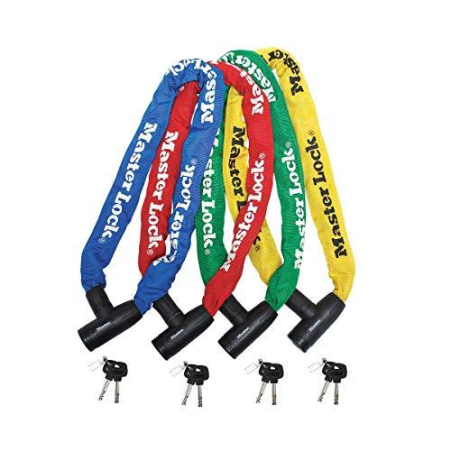 MASTER LOCK Lucchetto Bici [Chiave] [90 cm Catena] [Colore Casuale] 8391EURDPROCOL - Ideale per Proteggere Bicicletta, Bici Elettrica, Bici da Corsa