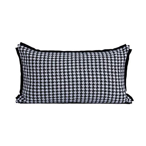 Ning Night Americano del sofá Cojín Cuadrado de Pata de Gallo y Almohada Almohada Cubierta de Orange Conveniente para el Dormitorio sofá de la habitación Oculta la Cremallera (45X45cm),3,45x45cm