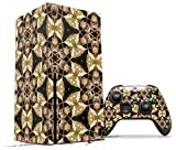 WraptorSkinz Skin Wrap compatible with the 2020 XBOX Series X Console and Controller Leave Pattern 1 Brown (XBOX NOT INCLUDED)