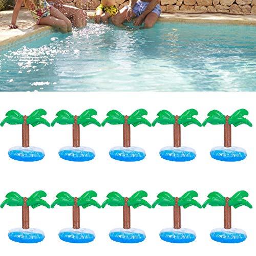Portavasos Flotante, Posavasos Inflable, inflado por Completo en 10 Segundos Plástico de PVC para Fiestas en la Piscina, Playa, baño, Juguetes de natación para niños