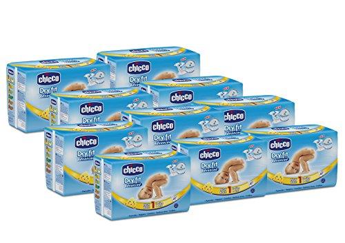 Chicco Pannolino Dry Fit Advance Newborn, 270 Pezzi