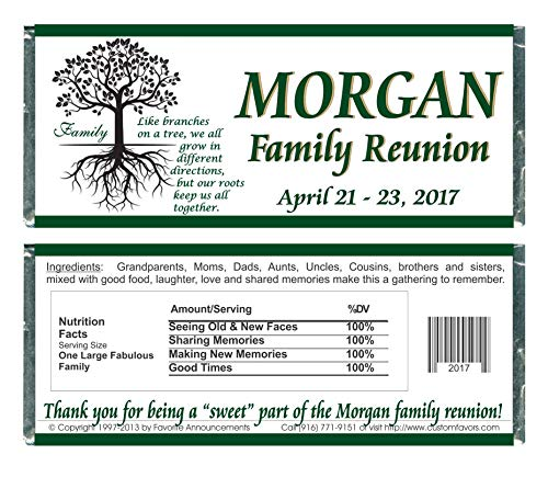 Y702 Family Reunion Personalized Water Bottle Labels set of 24 Waterproof