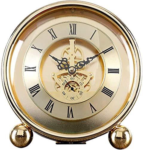 J-Clock Reloj de Mesa Moderno, Reloj de Soporte silencioso, Relojes de Escritorio de Metal, hogar Decorativo para Sala de Estar, Chimenea, Oficina, Cerradura de Escritorio de Cocina