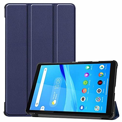 Funda de piel para Lenovo Tab M8 TB-8505X de 8 pulgadas para tablet TB-8505F / M / I color azul oscuro Lenovo TAB M8