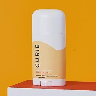 Curie All-Natural Deodorant for Men and Women | Aluminum-Free, Paraben-Free, Cruelty-Free | Orange Neroli