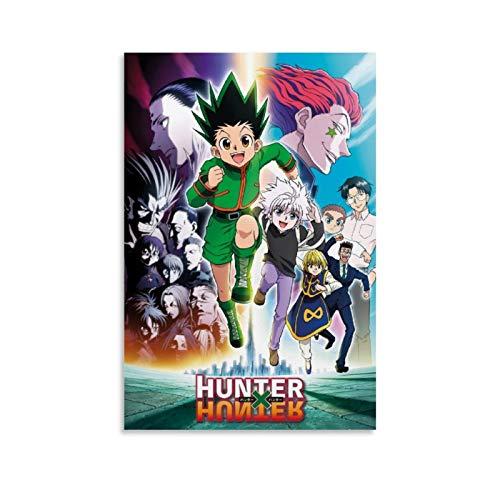HUAIREN Póster de Hunter X Hunter, diseño de Keyart Running Anime, póster artístico y mural de 40 x 60 cm
