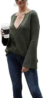 Winwinyou Women Soft Chic Shirt Top Warm Jumper Pullover Knit V Neck Sweater