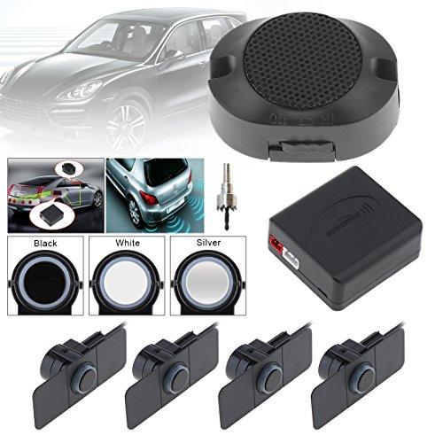 Système de radar de recul pour voiture de qualité supérieure 4 capteurs de stationnement Système de radar de secours pour voiture avec ailes (ruban)