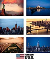 New York Postcards Set of 30 Styles #2. Collectible Edition of New York Souvenirs Post Cards 4 x 6 of NY Landmarks, Skylines and Aerial Views. Made in USA [並行輸入品]
