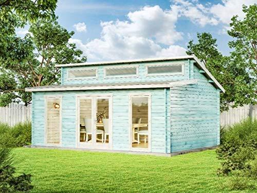 CARLSSON Alpholz Gartenhaus Narvig-70 C aus Massiv-Holz | Gerätehaus mit 40 mm Wandstärke | Garten Holzhaus inklusive Montagematerial | Geräteschuppen Größe: 598 x 420 cm | Pultdach