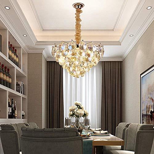 YANQING Duurzame Hanglamp Kroonluchter Woonkamer Slaapkamer Hotel Eettafel Ingang Bar Counter Led Plafond Lamp 10 Lichtbronnen 55x55x40cm Hanglamp