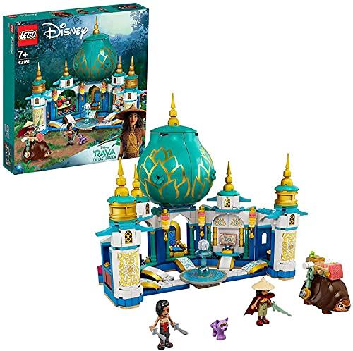 LEGO Disney Princess Raya e il Palazzo del Cuore, Castello Giocattolo con Mini-doll di Namaari, Tuk Tuk e Serlot, 43181