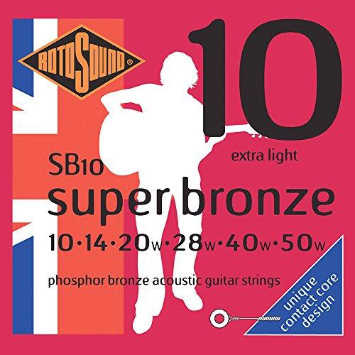 Rotosound SB10 Super Bronze Acoustic Guitar Strings (10 14 20 28 40 50)