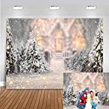 Avezano - Fondo de Navidad para fotografía de pino, árbol de copo de nieve, retrato, fondo blanco, cumpleaños, ducha, decoración de fiesta, accesorios de sesión