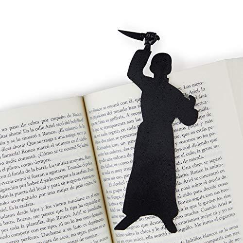 """balvi Lesezeichen Psycho Farbe Schwarz Inspiriert durch den berühmten Thriller """"Psycho"""" der 60er Jahre Lustiges Geschenk für alle Lesefreunde Nylon/Kunststoff"""