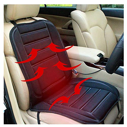 Heated Seat Cushion Cover, 12V Car 24V Truck Seat Heaterheated Universal seat Covers for Cars Warmer with 2 Levels Safety Heating- Seat Heater for Chairfor Auto Supplies Home Office:A