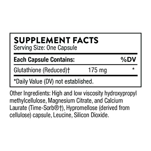 Thorne Research - Glutathione-SR - Sustained-Release Glutathione for Antioxidant Support - 60 Capsules