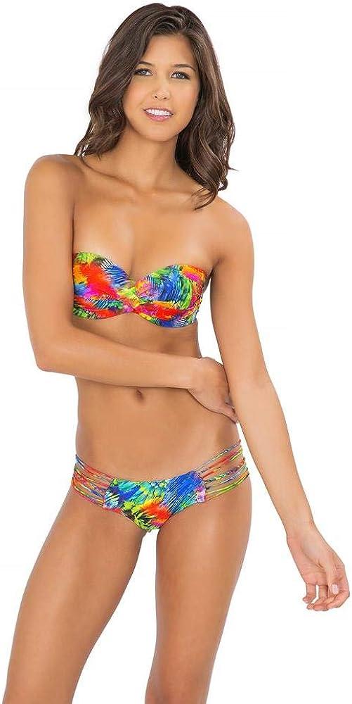 Luli Fama Women's Mundo De Colores Braided Hot Buns Bikini Bottom