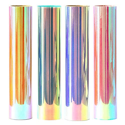 Stardust Co. 's Holografisches & reflektierendes Wärmetransfer-Vinyl, HTVvinyl, zum Aufbügeln, holografisches Vinyl, 30 x 25 cm, 4 Stück, super einfach zu Unkrauten, 100% sicher um Kinder herum, CPSIA-zertifiziert