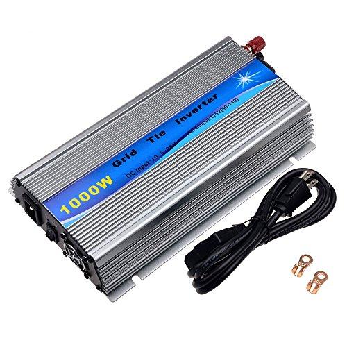 Y&H 1000W Grid Tie Inverter Stackable MPPT Pure Sine Wave DC15-28V Solar Input AC90-140V Output for 12V Solar Panel