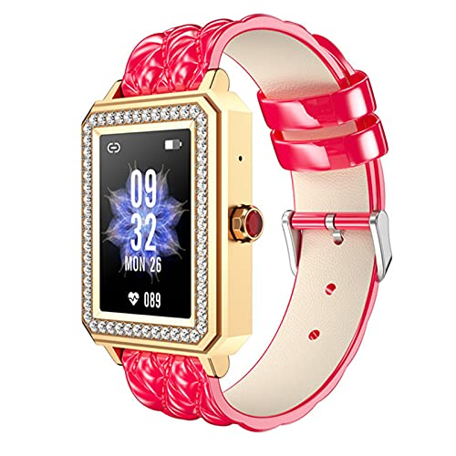 LKM M66 Hembra Pulsera Inteligente Bluetooth Llamada Ritmo cardíaco presión Arterial oxígeno Hembra periodo Menstrual Reloj de niña,A