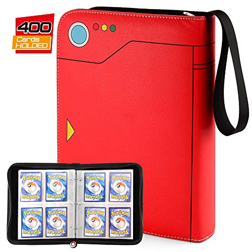 tombert TCG Binder Compatible with Pokemon Trading Cards, Sleeves Card Carrying Case for Pokémon Cards, Baseball Cards, Yu-Gi-Oh, Skylanders, Top Trumps Yand Football Card