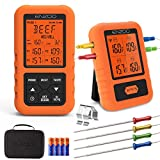 Digital Meat Thermometer for Grilling,ENZOO 2019 the Newest 500FT Wireless Ultra Fast Cooking Food...