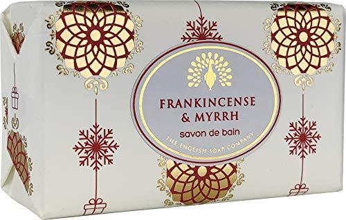 The English Soap Company, Vintage Wrapped Shea Butter Soap, Frankincense & Myrrh, 200g