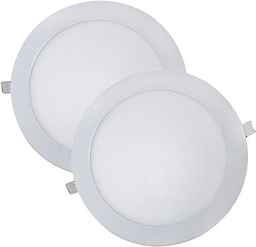 Wonderlamp W-E000045 - Juego 2 Downlight LED Extraplano Redondo, Iluminacion 18W (1480 lm), 6000K (Luz Fr?a), Blanco,...
