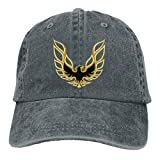 Unisex Trans Am Firebird Logo Adjustable Vintage Washed Denim Baseball Cap Dad Hat