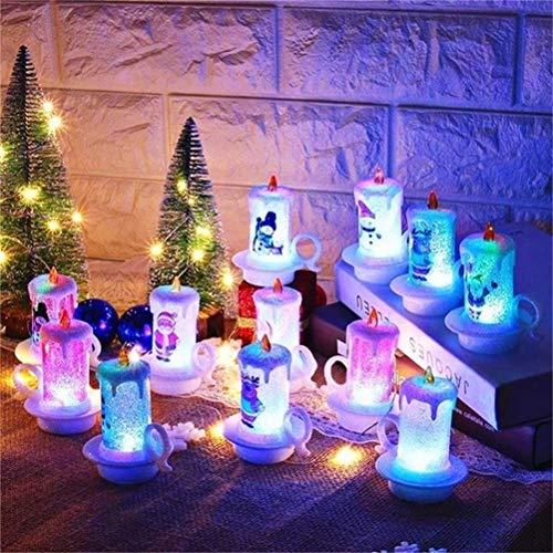 barsku 12PC Natale senza fiamma a lume di candela a LED, candele galleggianti a batteria per feste, aula, matrimonio, decorazioni natalizie